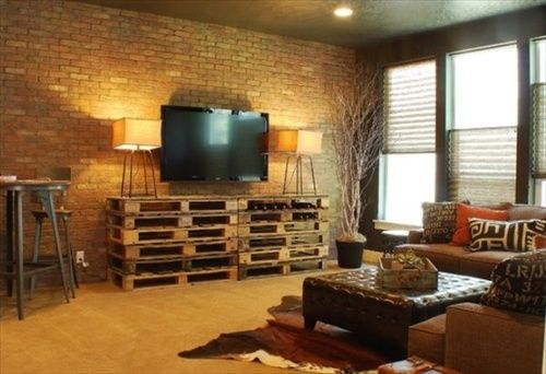 Meuble Tv Palette Bois Decorating Around A Tv, 6 Inspiring Ideas - First
