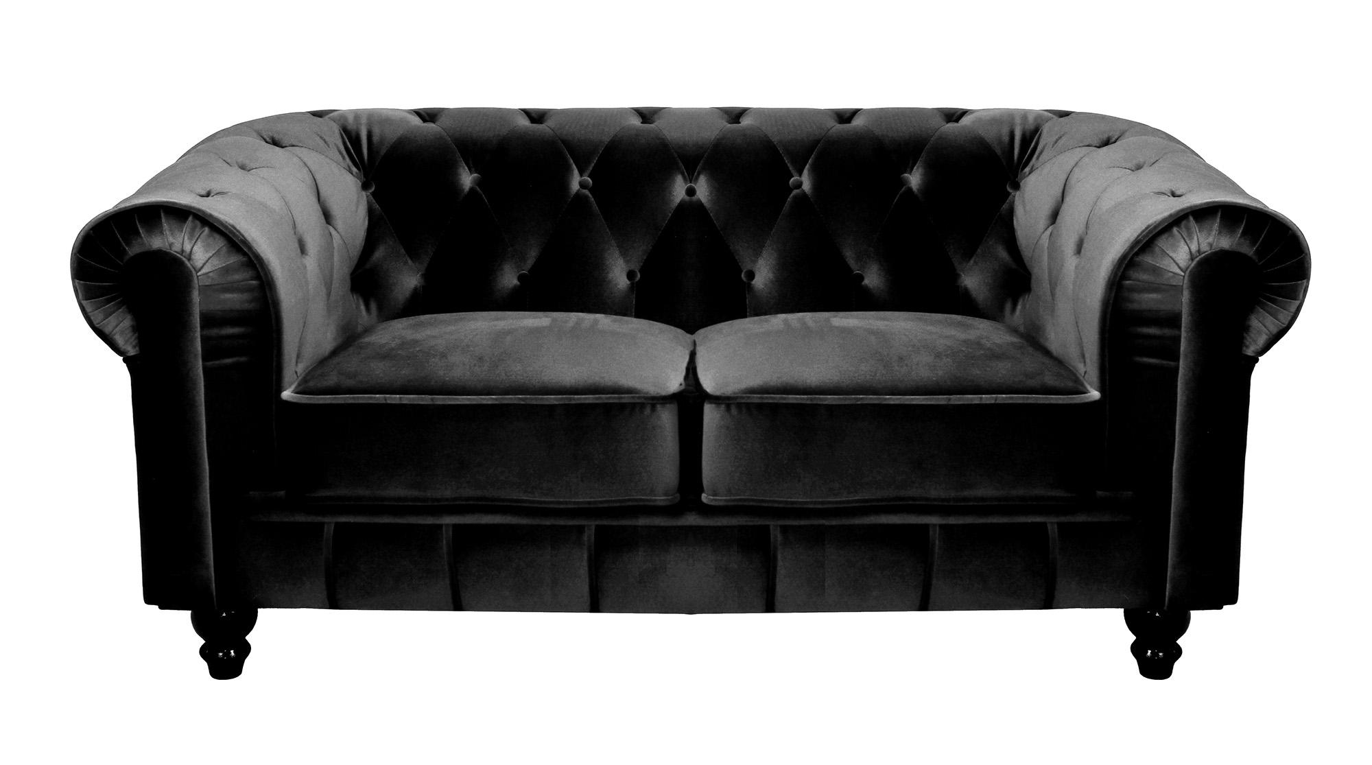 Chesterfield Velours Canapé Chesterfield Velours Cdiscount