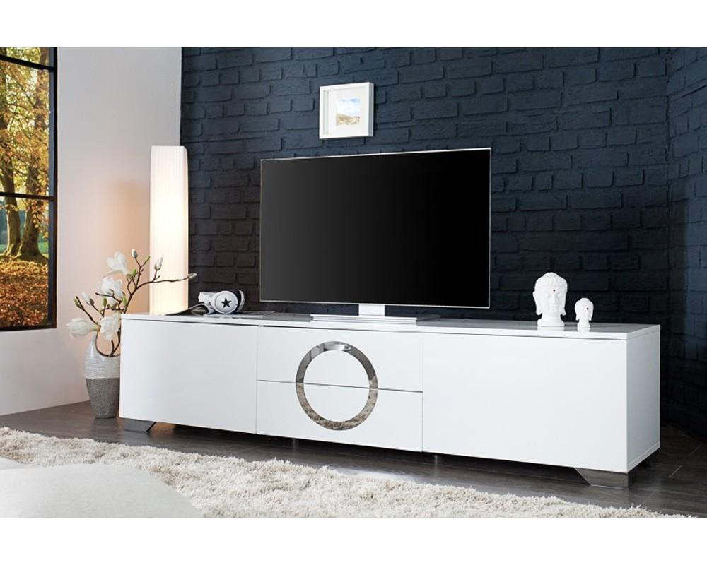 Mobilier Nitro Meuble Tv Meuble Tv 180 Cm Blanc Firstcdiscount