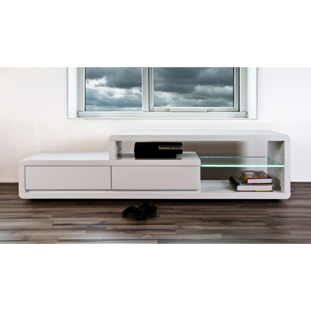 Meuble Tv Infrarouge Meuble Tv Blanc Laqué 180 Cm Firstcdiscount