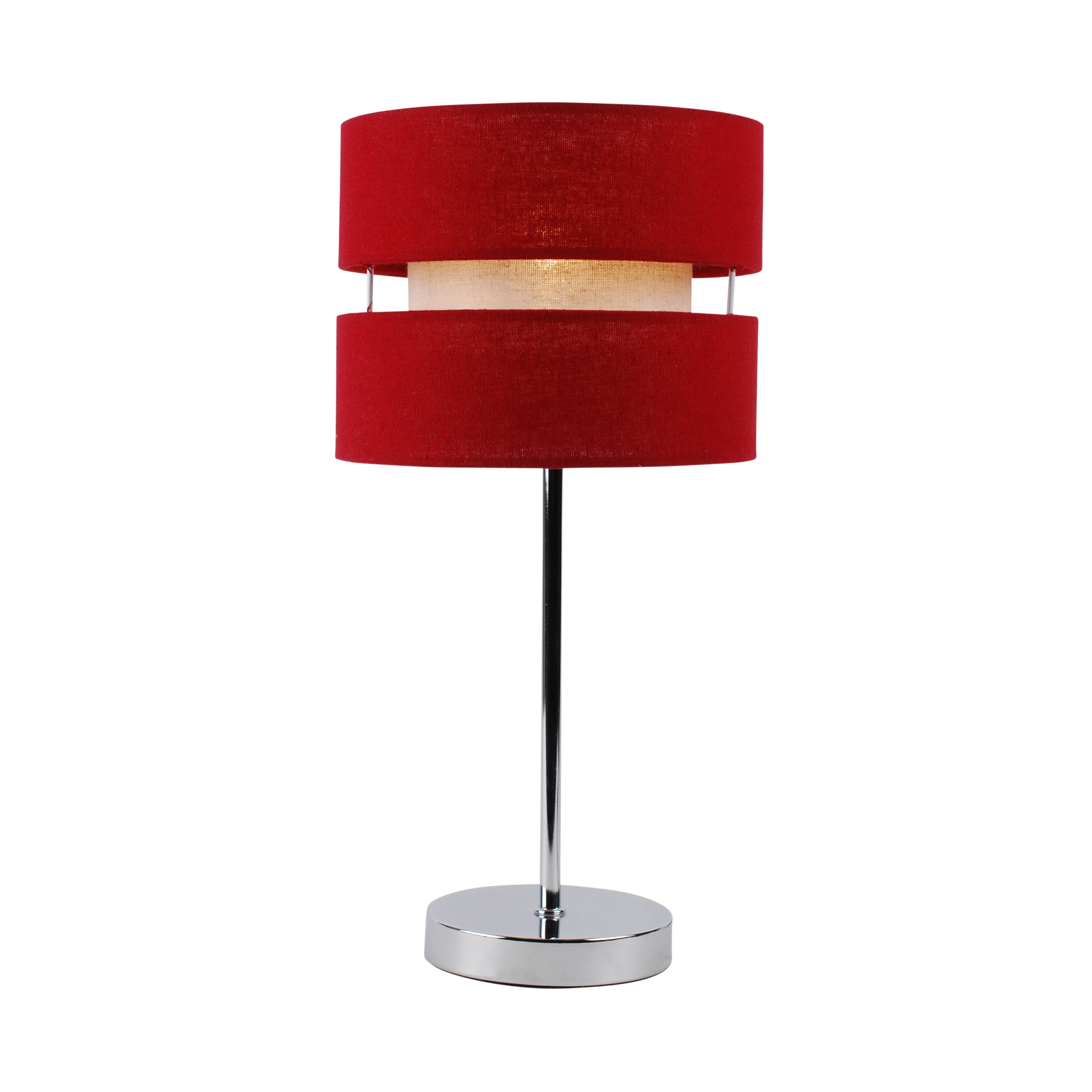 Red Bedside Lamps Modern Chrome Bedside Table Lamp Light With Red Cotton