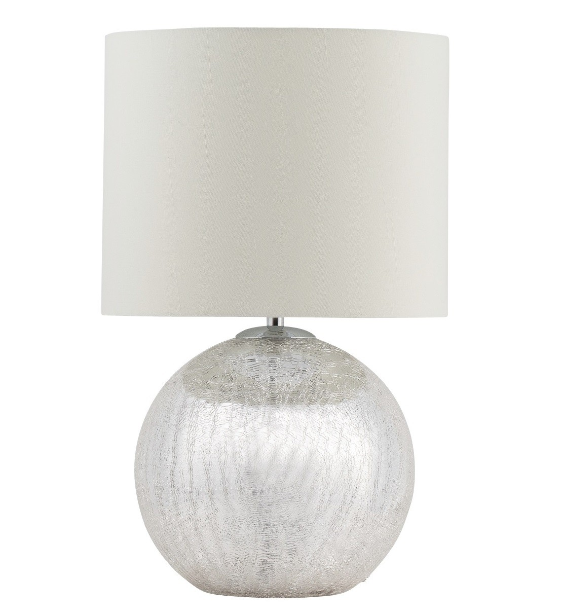 Glass Crackle Lamp Cortez Chrome Crackle Glass Table Lamp With Cream Shade