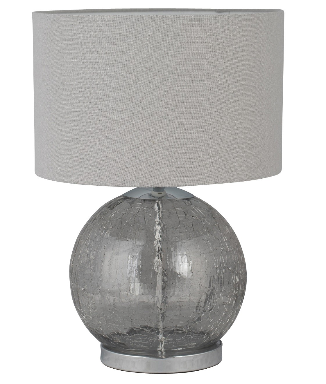 Glass Crackle Lamp Howe Crackle Glass 41cm Lamp With Grey Linen Shade