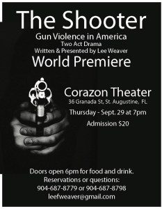 """""""The Shooter - Gun Violence in America"""" a Two Act Drama @ Corazon Cinema & Cafe 