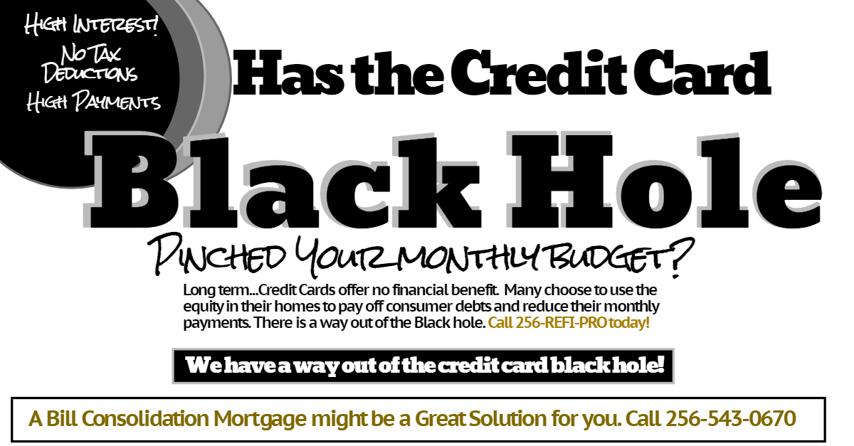 Alabama Mortgage  Bill Consolidation-Home Loan-Cash out /payoff - payoff credit card loan