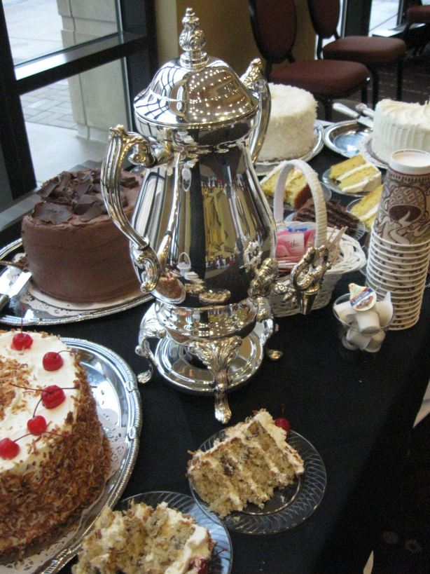 Italian Cream, Chocolate Layer Cake , Verona Coffee