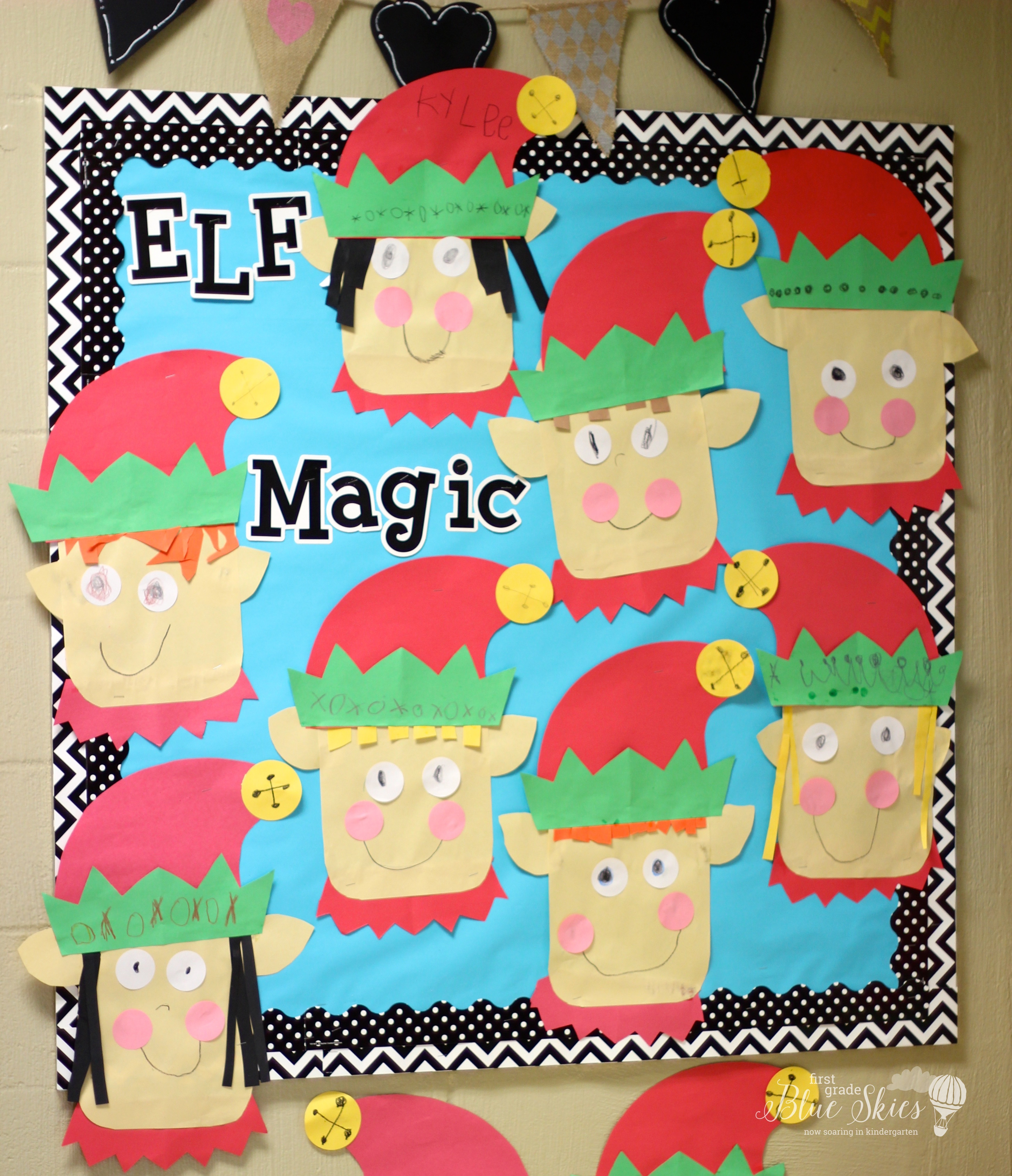 Classroom Craft Idea : Elf craft for the classroom first grade blue skies
