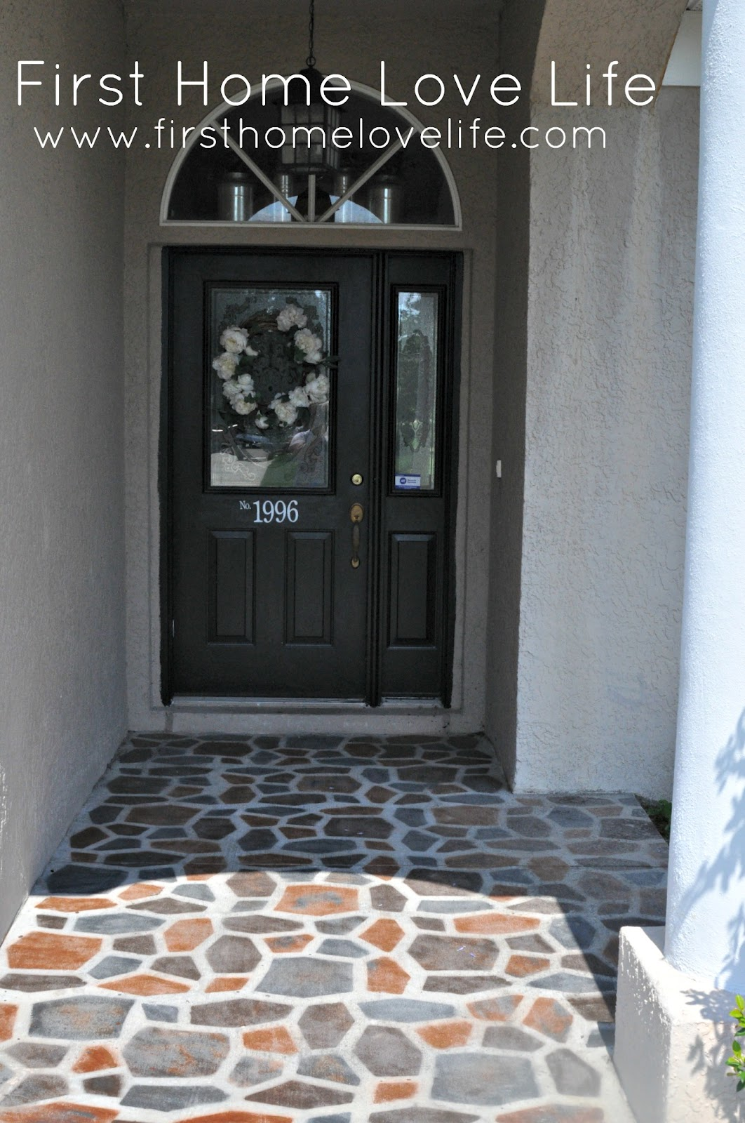Diy Paint Concrete Patio Reeeeeemix Front Door Edition First Home Love Life