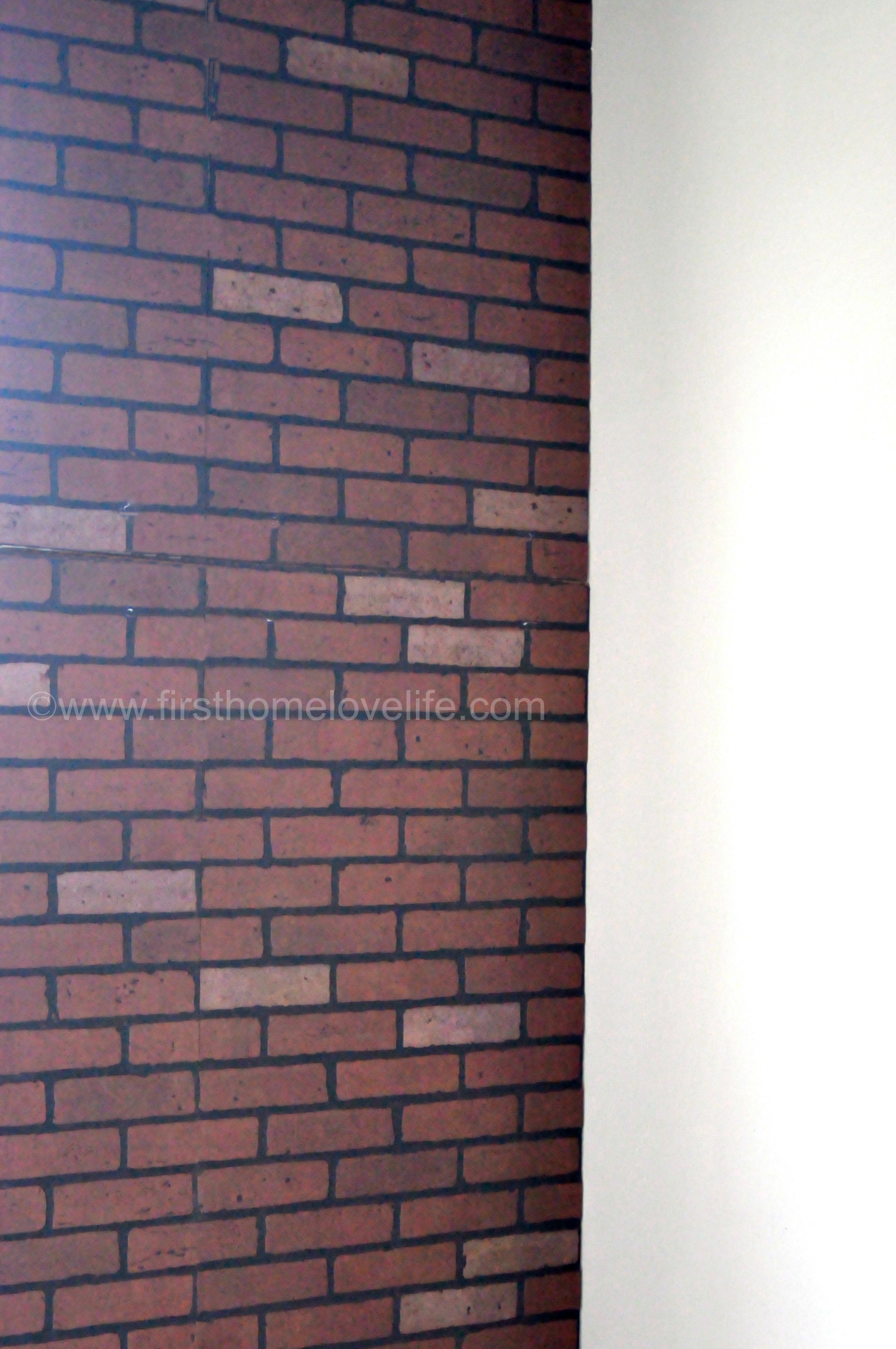 Brick Veneer Accent Wall Faux Brick Ifying Home Love Life Plywood Siding Ply Bead