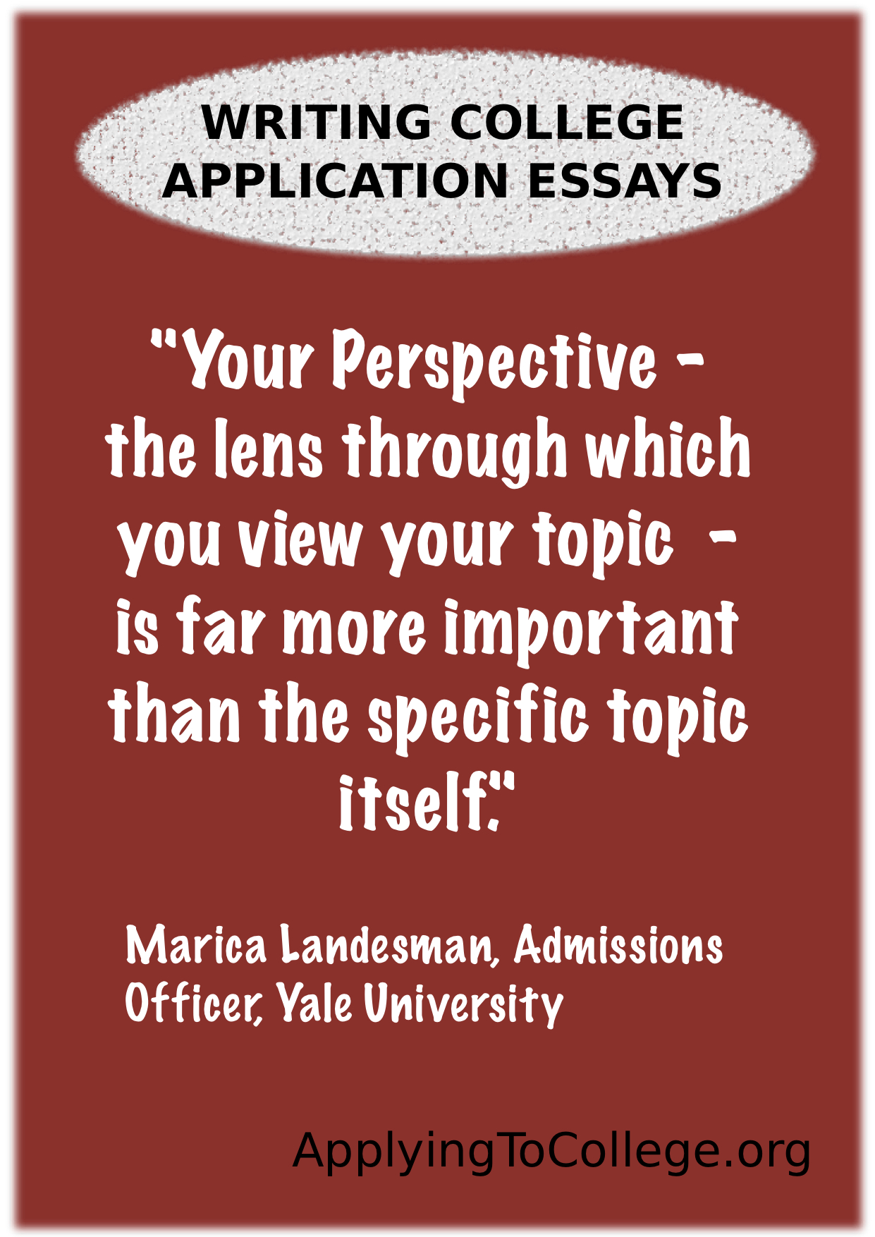 yale undergraduate admissions essay College admissions officers say the worst essays they read on college applications are be stale but matt ought to get into yale one admissions.
