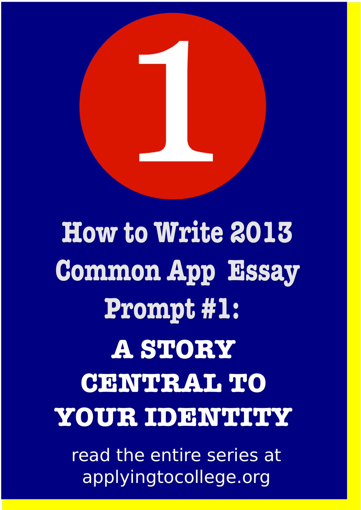 college admissions essay prompts 2013 The people behind the common application have just released the new essay prompts (pdf link) for college applicants who apply in the 2013-2014 admissions season.