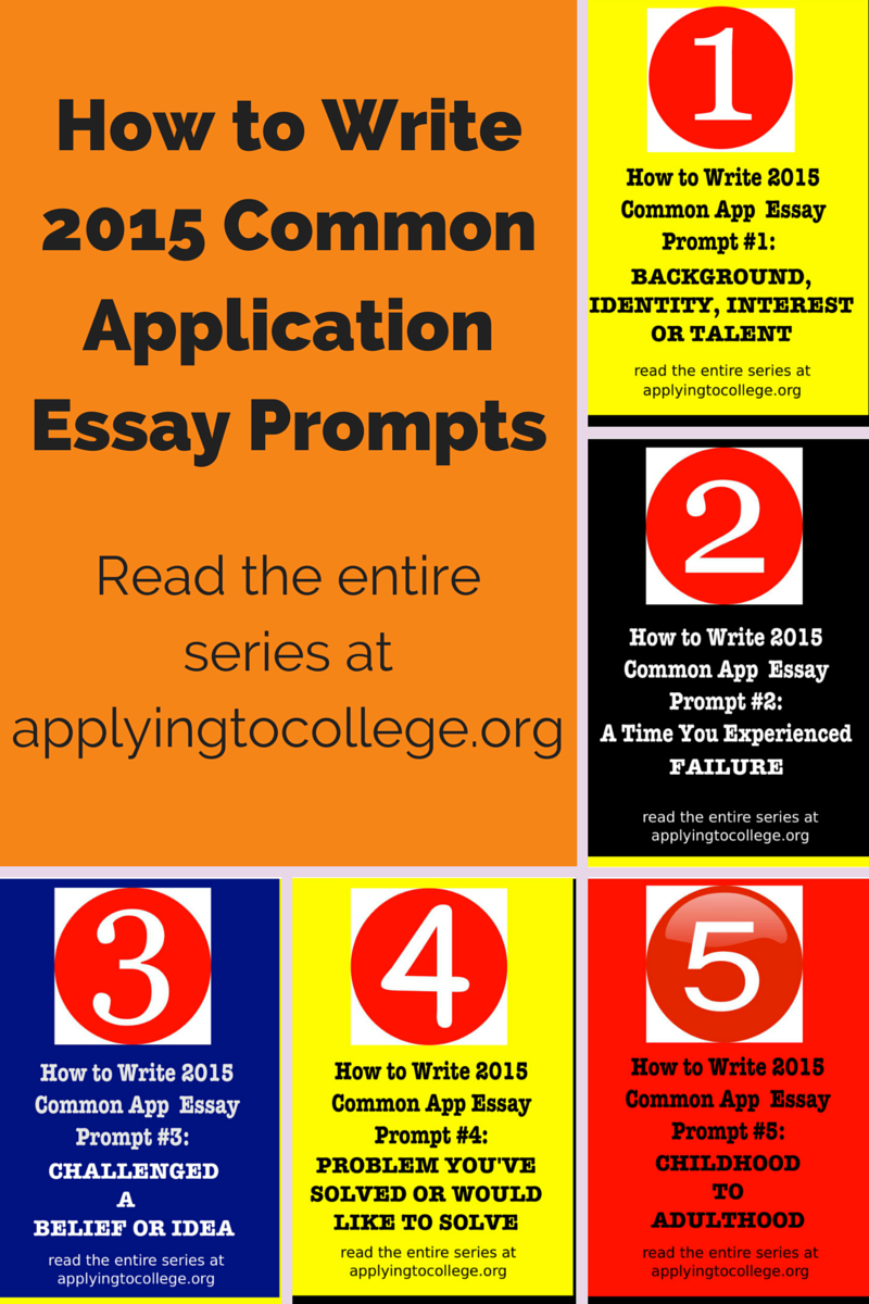 """2014 common essay prompts New essay prompts for 2013 -2014 common application the 2013-2014 common application, scheduled to launch on august 1, 2013, will include new """"personal statement."""