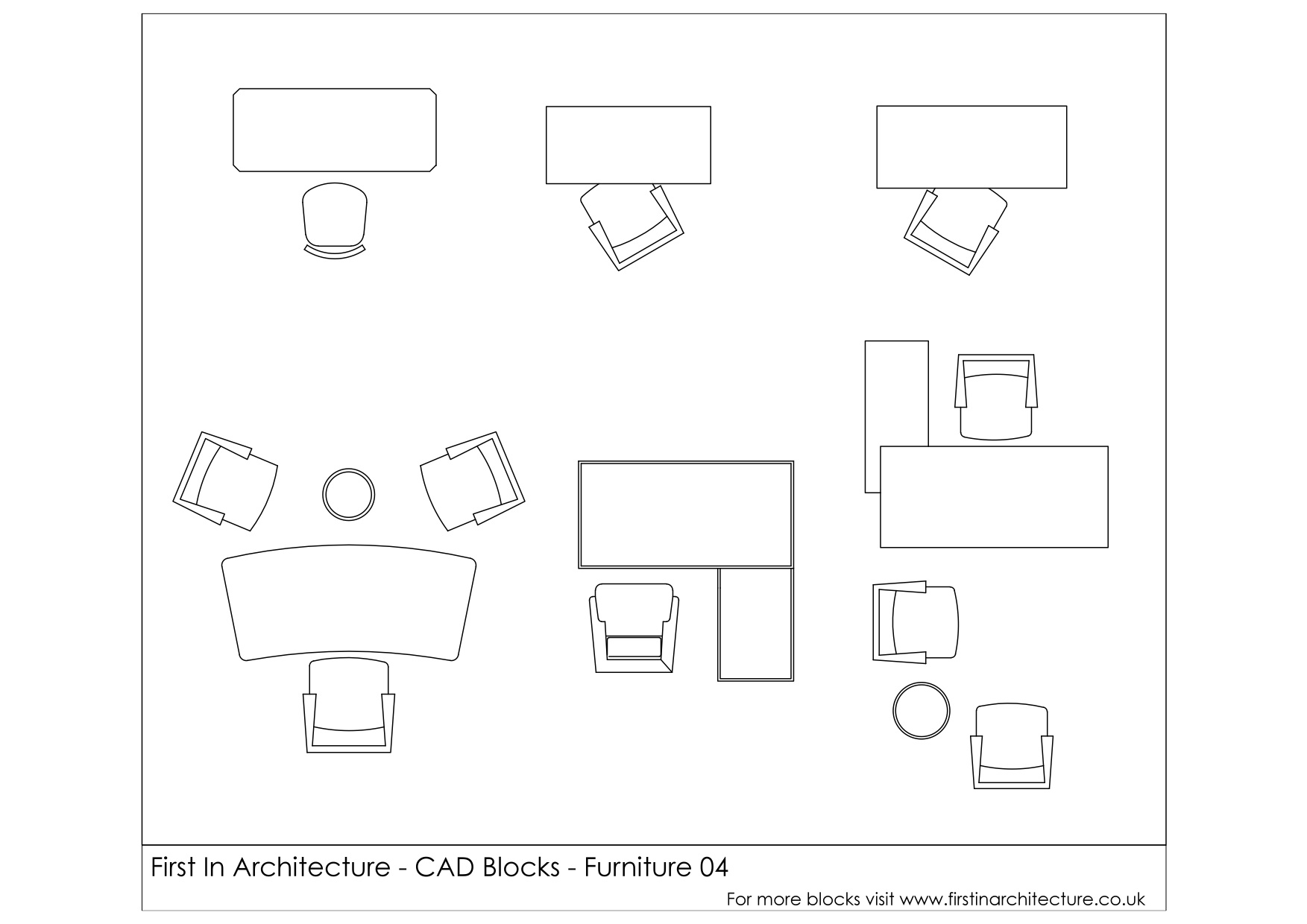 Eames Chair Autocad Block Free Cad Blocks Furniture Office Desks First In