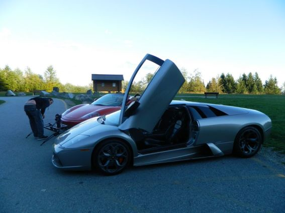 Filming First Rides Trailer in 2013 on Cypress Mnt with a Lamborghini Murcielago and Ferrari 360 spyder