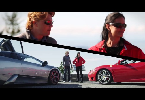 First Rides hosts Jason Grunsell and his wife Kelly Sarmiento with the Murcielago and 360 spyder