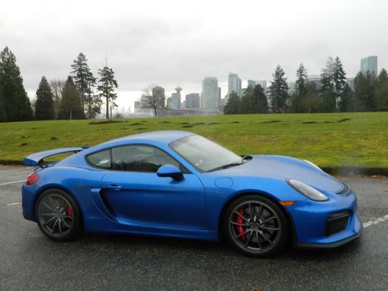Testing the Porsche GT4, Stanley Park December 2015.