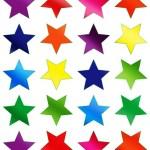 כוכבים צבעוני מטאלי