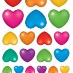 לבבות שונים צבעוני 10דף