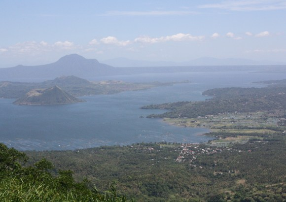 The breathtaking view of Taal Lake and Taal Volcano.