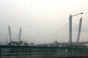 A foggy South Korea greeted us during our arrival.