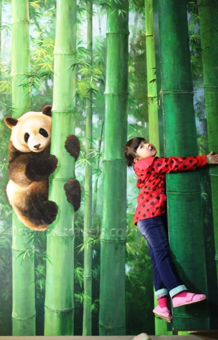 Climb the bamboo tree like a panda.