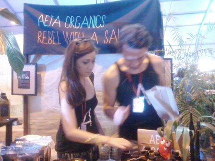 The land of spice is how I would regard the Aeta Organics booth.