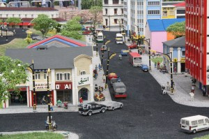 They built a city out of Lego bricks! This is KL's streets on a miniature.