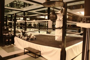 Sweat it out in this Muay Thai boxing ring.