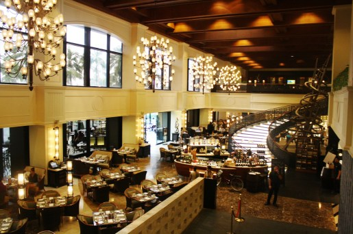 Spiral Restaurant is known for its wide buffet selection.