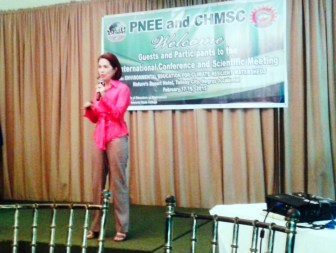 Ms. Gina Lopez presenting the efforts of ABS-CBN Foundation Bantay Kalikasan in promoting sustainable eco-tourism.