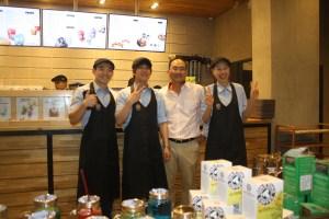 The Korean staff.