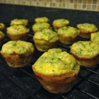 Baby Broccoli and Cheese Egg Souffles
