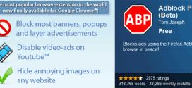 Bloquea la publicidad en Google Chrome.