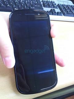 Parte frontal del Nexus S de Google