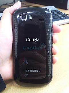 Parte posterior del Nexus S de Google