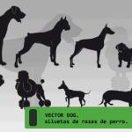 Vectores+de+siluetas+de+perros