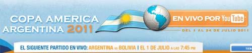 Transmisión de la copa América Argentina 2011 en vivo por YouTube