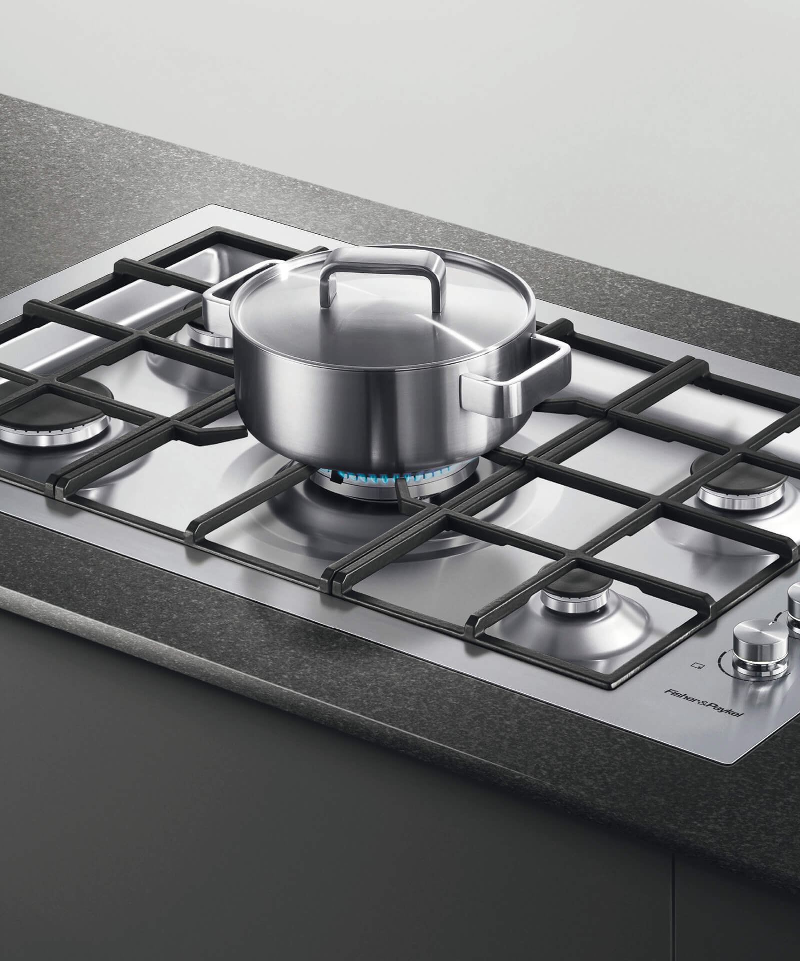 Kitchen Shop Bundall Cg905dwlpfcx3 90cm Flush Gas On Steel Cooktop