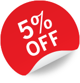5% Off Sticker