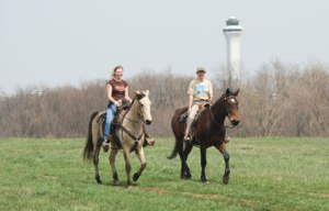 Cincinnatti Airport by Horseback