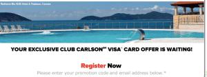 Club Carlson Visa Bonus Offer