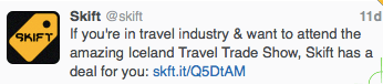 Iceland Travel Workshop Tweet