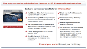 U.S. Airways Dividend Miles Card