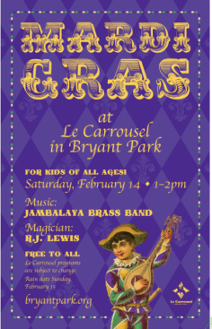 Mardi Gras Celebration at Bryant Park