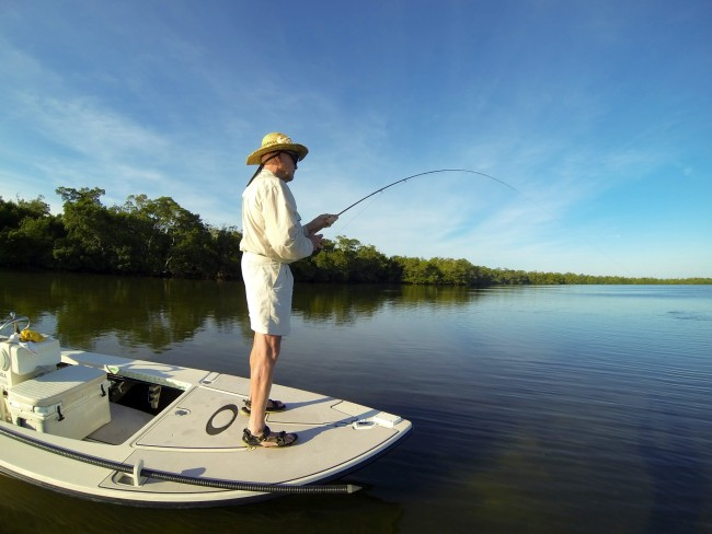 Fishing reports for sanibel island and fort myers area for Fly fishing for redfish