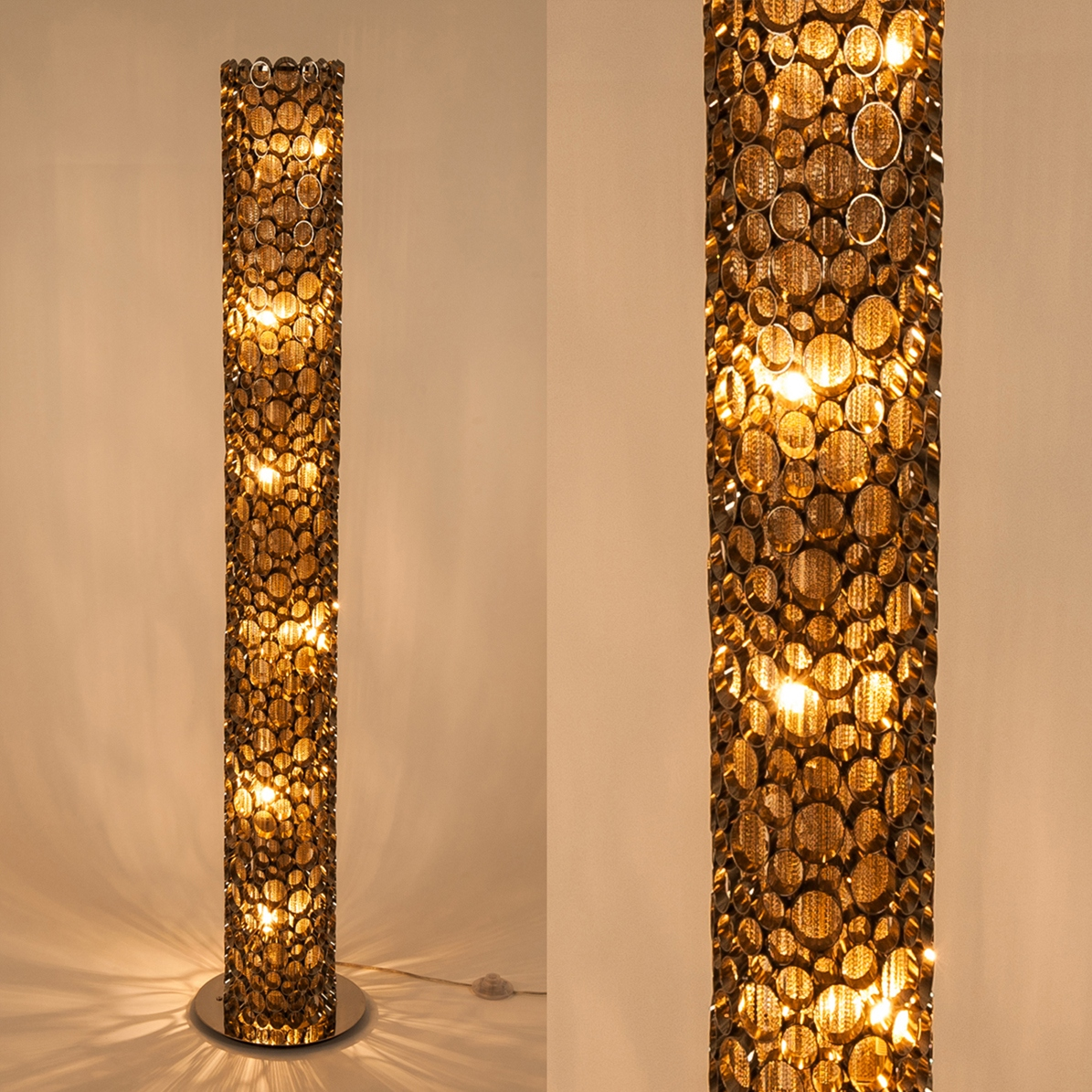 Unusual Standard Lamps Aphrodite Nickel Tube Standard Lamp All Lighting Fishpools