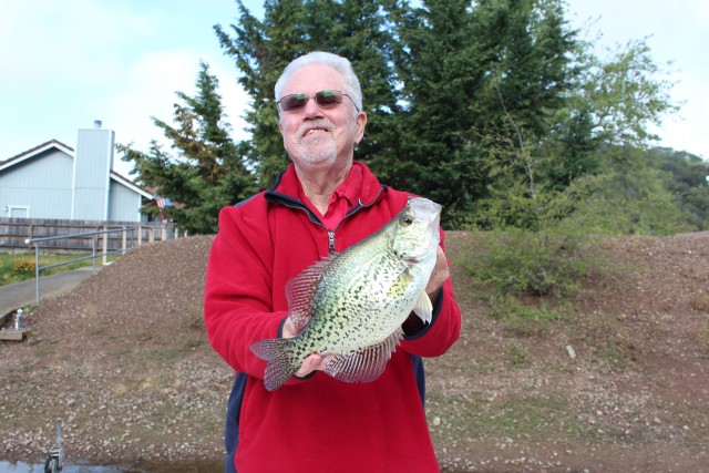 Dan Bacher, Fish Sniffer Editor, had a great time battling this chunky crappie.