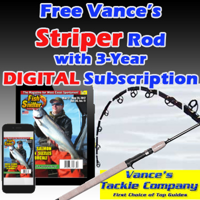3 Year DIGITAL Subscription w/ FREE Vance's STRIPER Rod