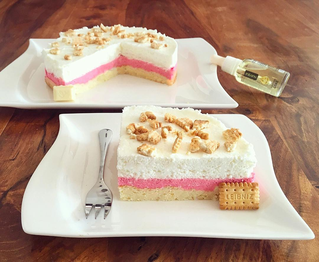 Geiler Kuchen White Chocolate Pink Butterbiscuit Cake Fitandsoulfood