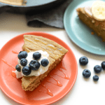 This banana breakfast cake is about to be your best friend. It's made with 100% whole grains, all-natural sugars and made in under 30 minutes!